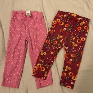 Girl's leggings/ 2 pairs